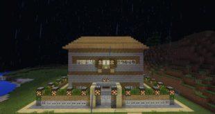 Карта Дом из редстоуна для Minecraft PE 0.15.0