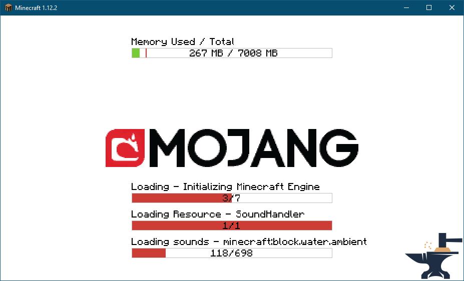 Ход установки Minecraft 1.12 Forge через TLauncher