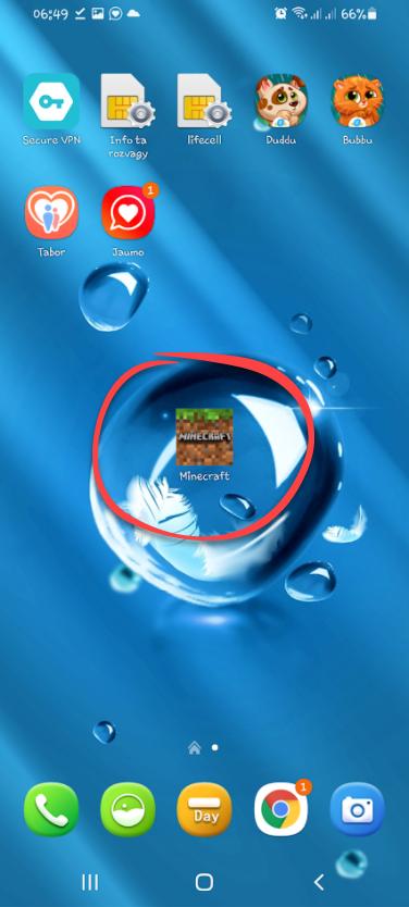 Иконка запуска игры Minecraft PE 1.16.200