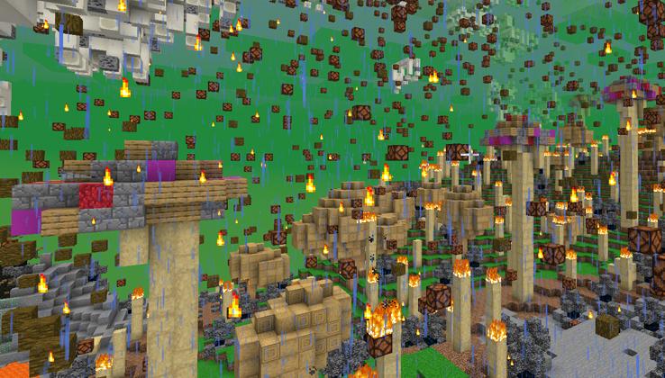 Мир в Майнкрафт версии 20w14infinite