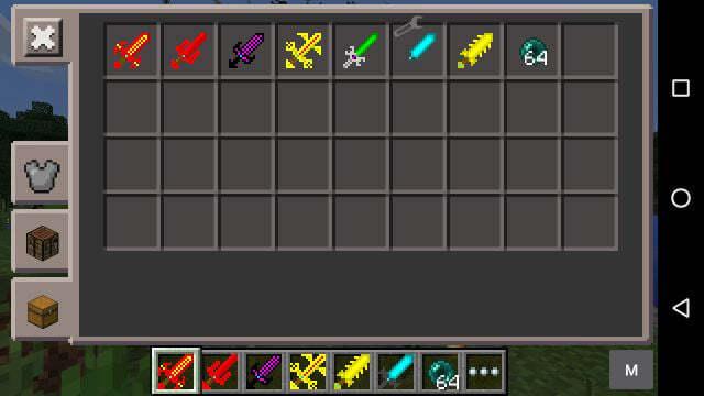Мод на новые мечи MCPE 0.14.0