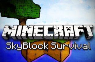 Карта SkyBlock для Minecraft PE 0.14.1
