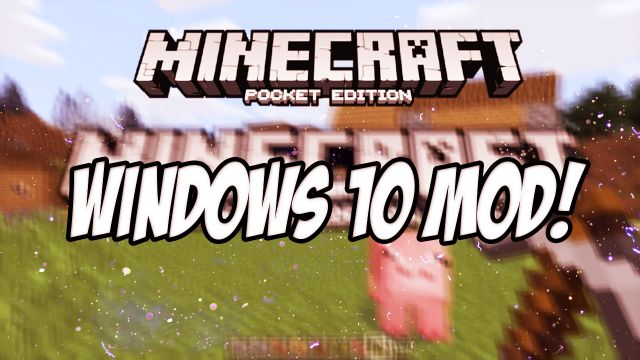 Мод Windows 10 Edition UI для MCPE 0.14.3