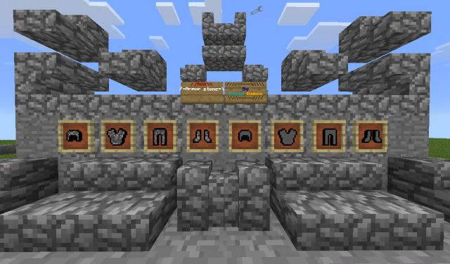 Мод на каменную броню для MCPE 0.14.1