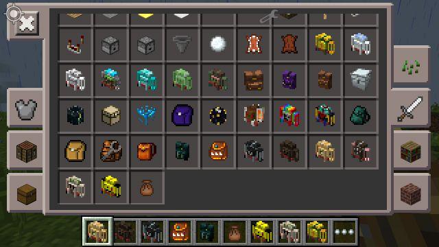 Мод на новые рюкзаки для Minecraft PE 0.14.0