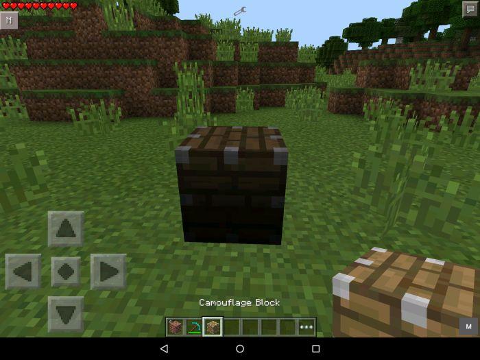 Мод на камуфляжный блок для MCPE 0.14.2