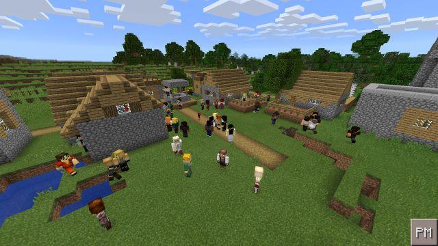 Жители деревни MCPE 0.14.0