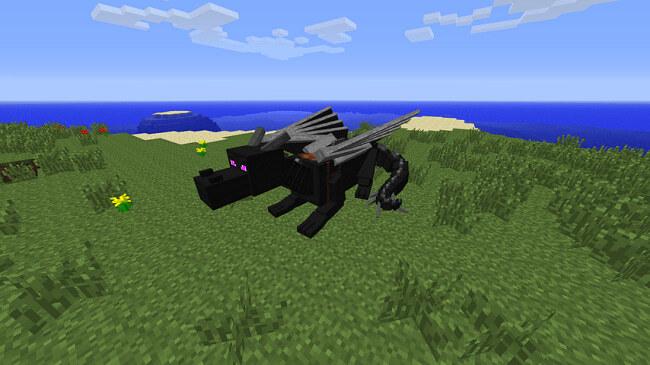 мод для майнкрафт 1.7.10 dragon mounts