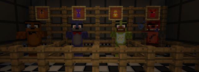 Мод Five Nights At Freddy's для MCPE 0.14.x