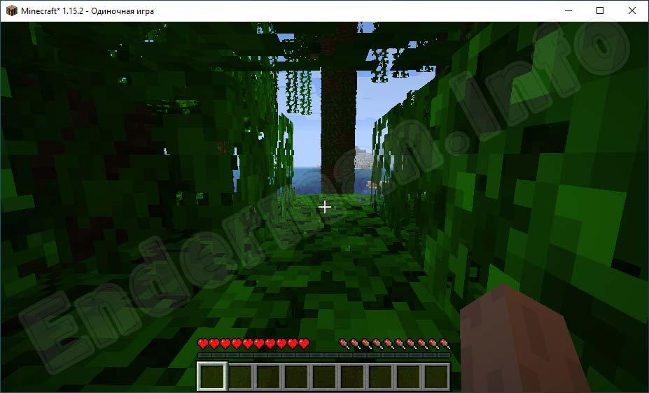 Карта-с-джунглями-для-Майнкрафт-сгенерирована-при-помощи-ключа