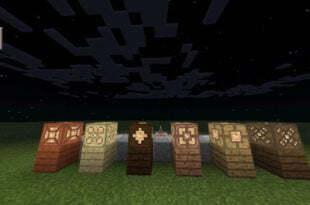 Мод на деревянные лампы для MCPE