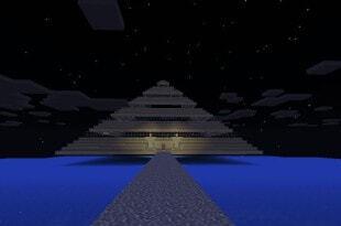Карта лабиринт-пирамида для MCPE 0.14.0