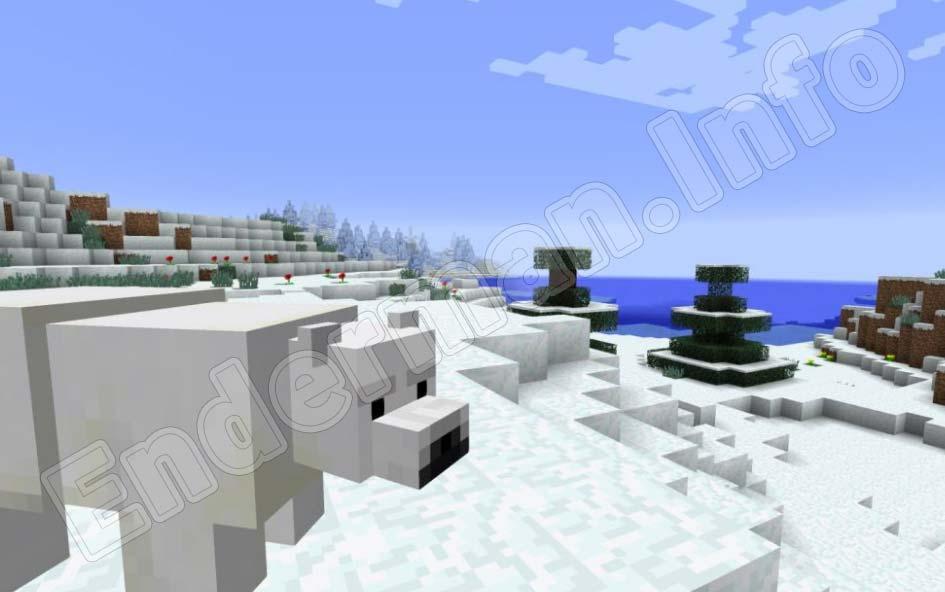 Minecraft PE белые медведи