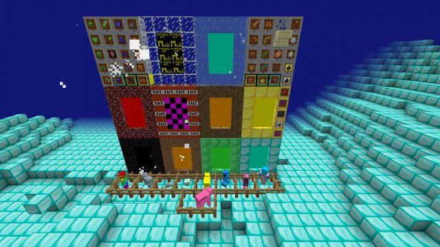 Мод Exploding Dimensions для Minecraft PE 0.14.0