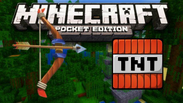 Мод на взрывные стрелы для Minecraft PE 0.14.0