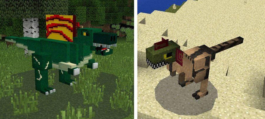 Динозавры в MCPE