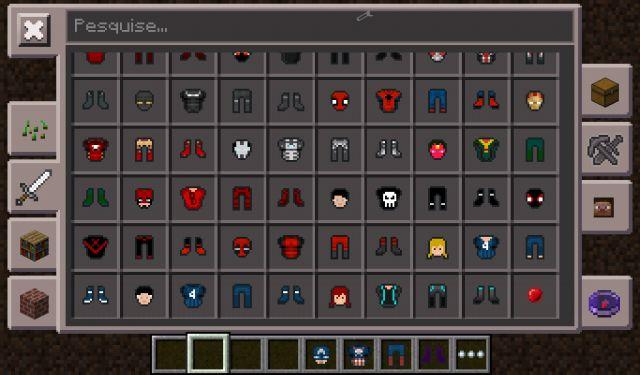 Мод на супергероев Marvel для Minecraft PE 0.14.1