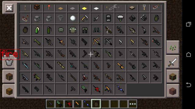 Мод на оружие в MCPE 0.14.1