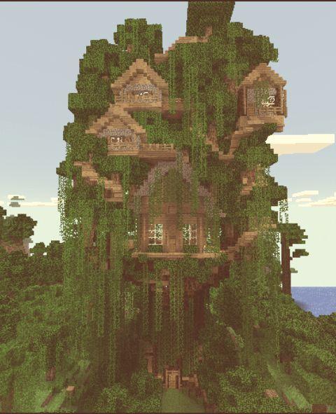 Карта дом на дереве MCPE 0.14.0