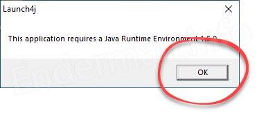 Уведомление о необходимости установки Java при инсталляции Minecraft без лаунчера